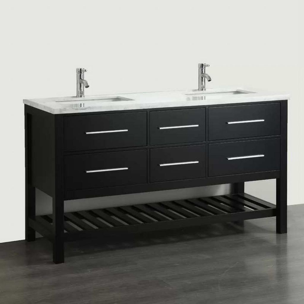"2nd Floor Shared Bath #2 60"" Natalie Standing vanity with marble top"