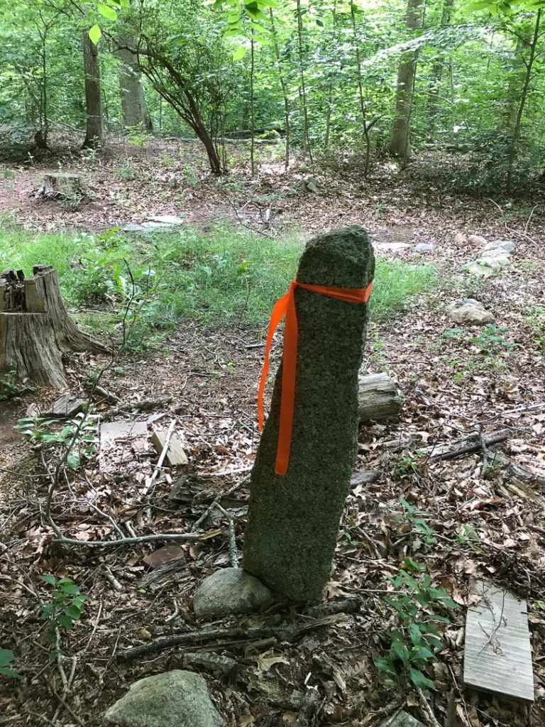 Survey Marker - A Northern Corner near Red building