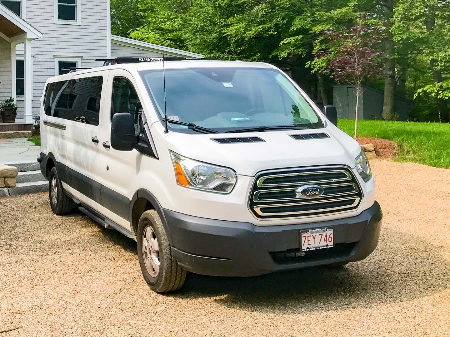 With 2017 Ford Van in front of it - available for rent